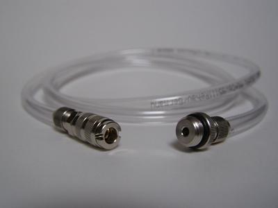 Transparante slang snelkoppeling - 1/8 ext.