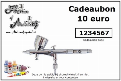 Cadeau bon t.w.v. 10 euro
