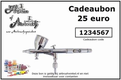 Cadeau bon t.w.v. 25 euro