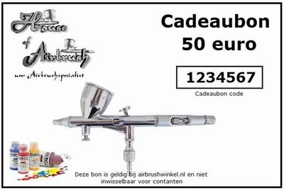 Cadeaubon t.w.v. 50 euro