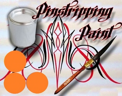 Pinstripe verf oranje
