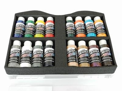 Createx transparant set van 16