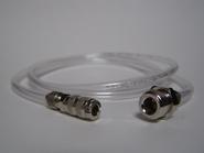 Transparante slang snelkoppeling - 1/4 ext.