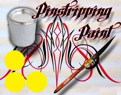 Pinstripe verf geel