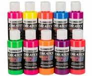 Createx fluorecerend set van 10